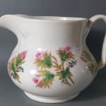 broc de toilette en porcelaine de paris orné de fleurs XIX ème siecle cruche 1850 Louis Philippe epoque (3)