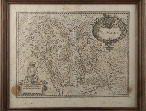 carte XVII XVIIIème siècle le maine le mans la sarthe eau forte estampe gravure (2)