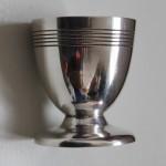 coquetier métal argenté art déco cadeau bapteme naissance enfant argenterie
