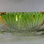coupe ravier ramequin à fruit Cristal saint louis Cristal doublé vert. Taillé. Émaillé. 1900. Ebrechures au bord. 35e Largeur 28,5 cm  (4)