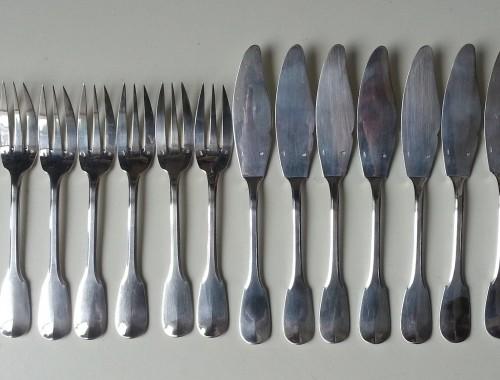 couverts fourchettes couteaux à poisson uniplat cluny  (4)