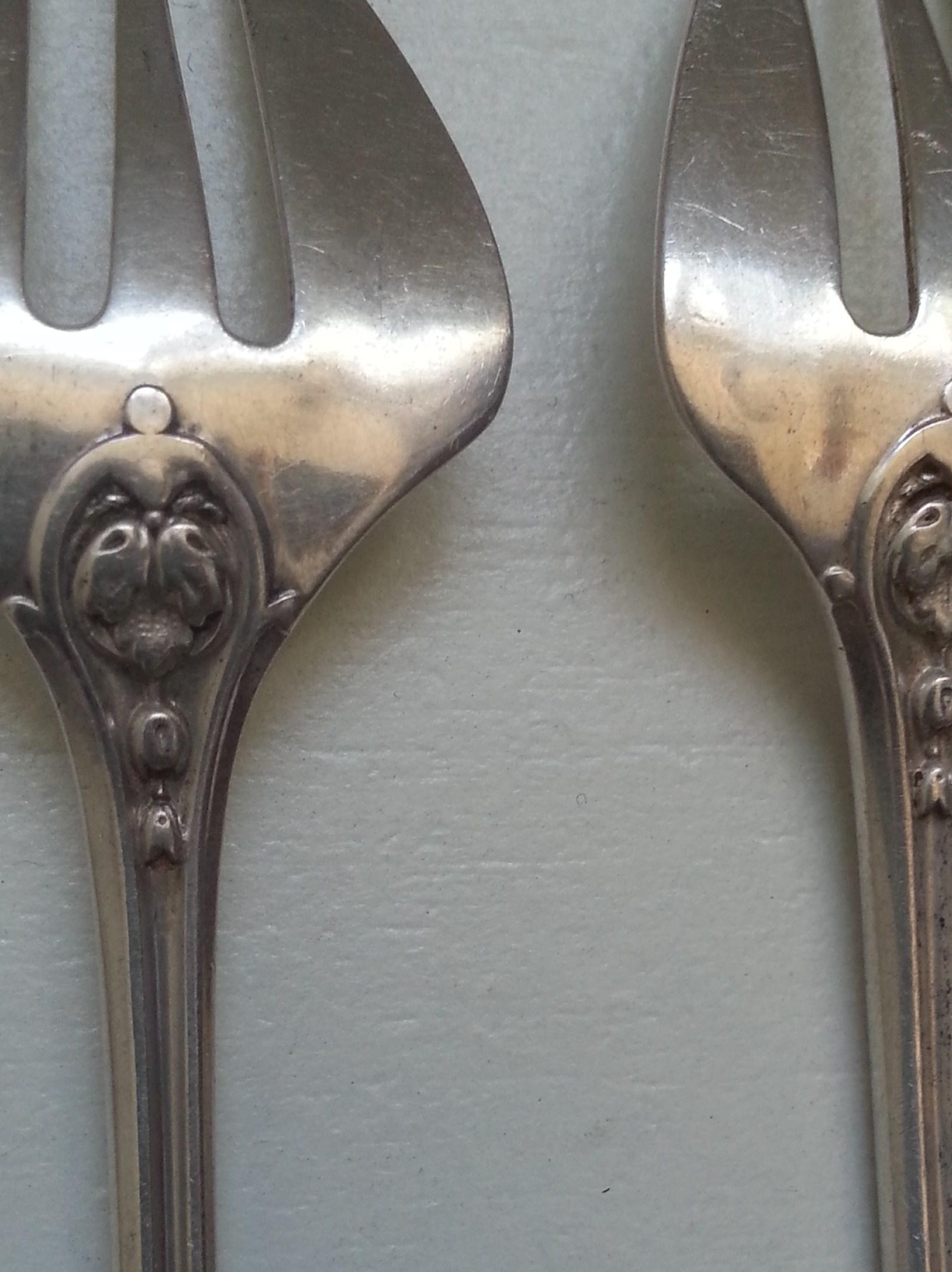 fourchettes a huîtres en argent