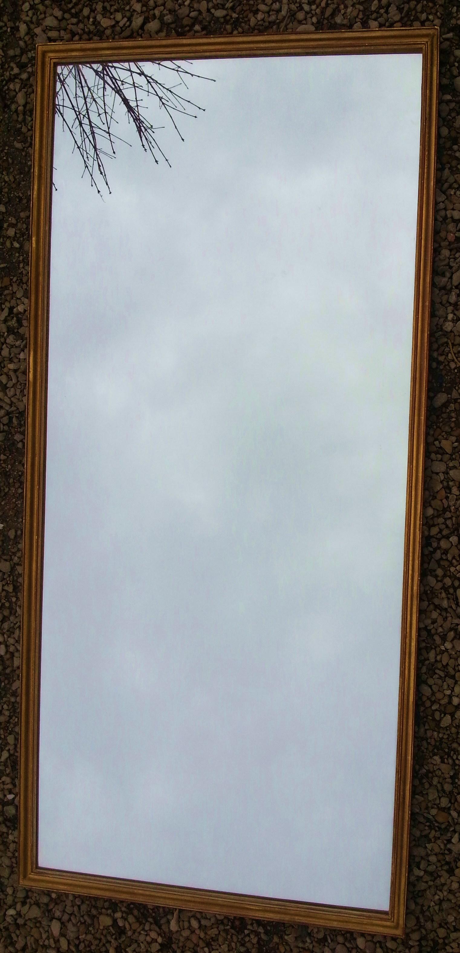 Grand miroir en bois moulur et dor magasin pierre brost for Grand miroir encadrement bois