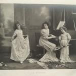 photographie photo ancienne années 10 20 art nouveau art déco argentique le menuet piano mandoline concert musique de chambre 1900 - Copie