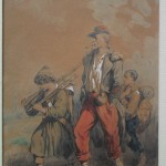 Dessin de Bellangé XIXème siècle enfant soldats