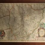 carte de la champagne ardennes aube marne troyes reims ancienne gravure eau forte estampe aquarelle XVIIème siècle XVIII