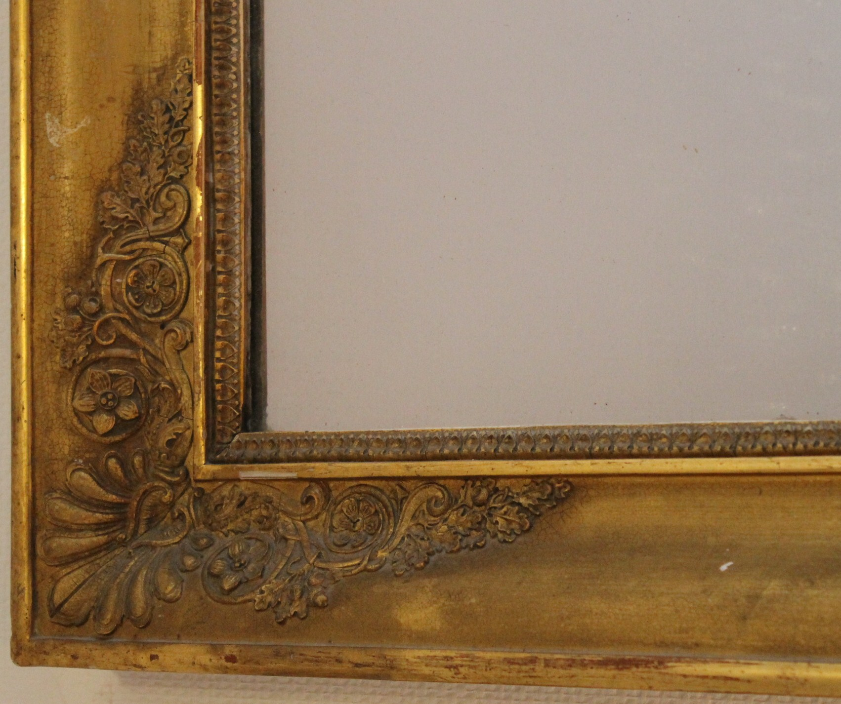 Grand miroir d poque restauration 140 cm x 86 cm for Recherche grand miroir