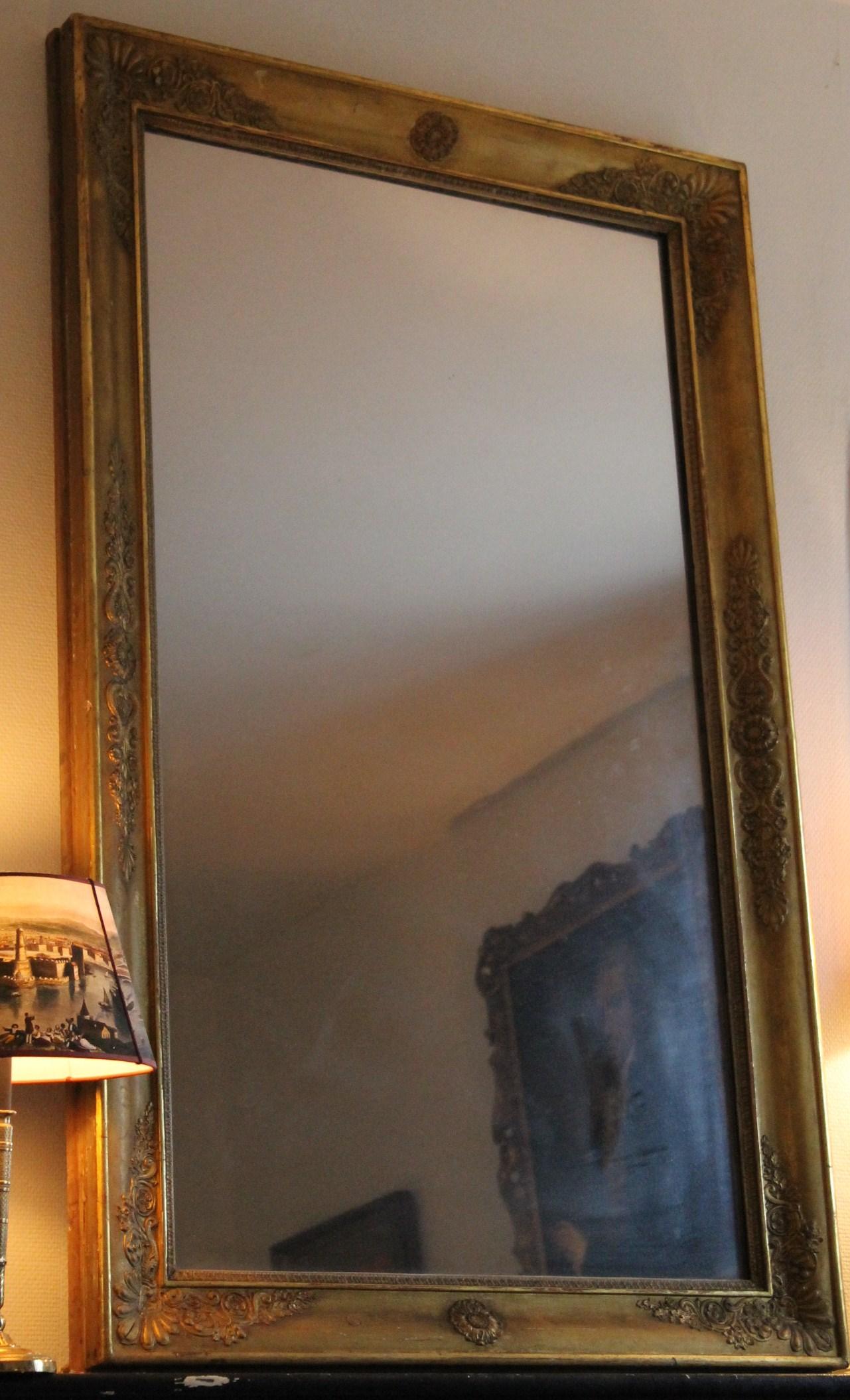 Grand miroir d poque restauration 140 cm x 86 cm for Restauration miroir