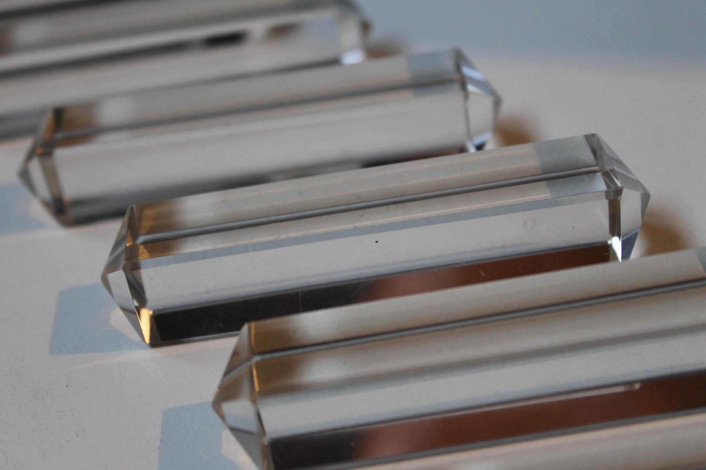 12 portes couteaux en cristal magasin pierre brost - Porte couteaux pour table ...