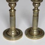 paire de petits bougeoirs flambeaux laiton bronze ciselé epoque empire restauration XIX èmes siècle  (5)