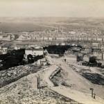 photo marseilles tirage original albuminé notre dame de la garde XIX ème siècle 1890 le Port de Marseille et le Fort Saint Jean (2)