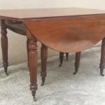 grande table de salle a manger acajou de cuba epoque restauration allonges rallonges 8 pieds abattant volet ronde (2)
