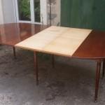 table salle a manger acajou massif louis XVI directoire six pieds fuselé 6 allonges rallonges volets abbatant (3) (FILEminimizer)