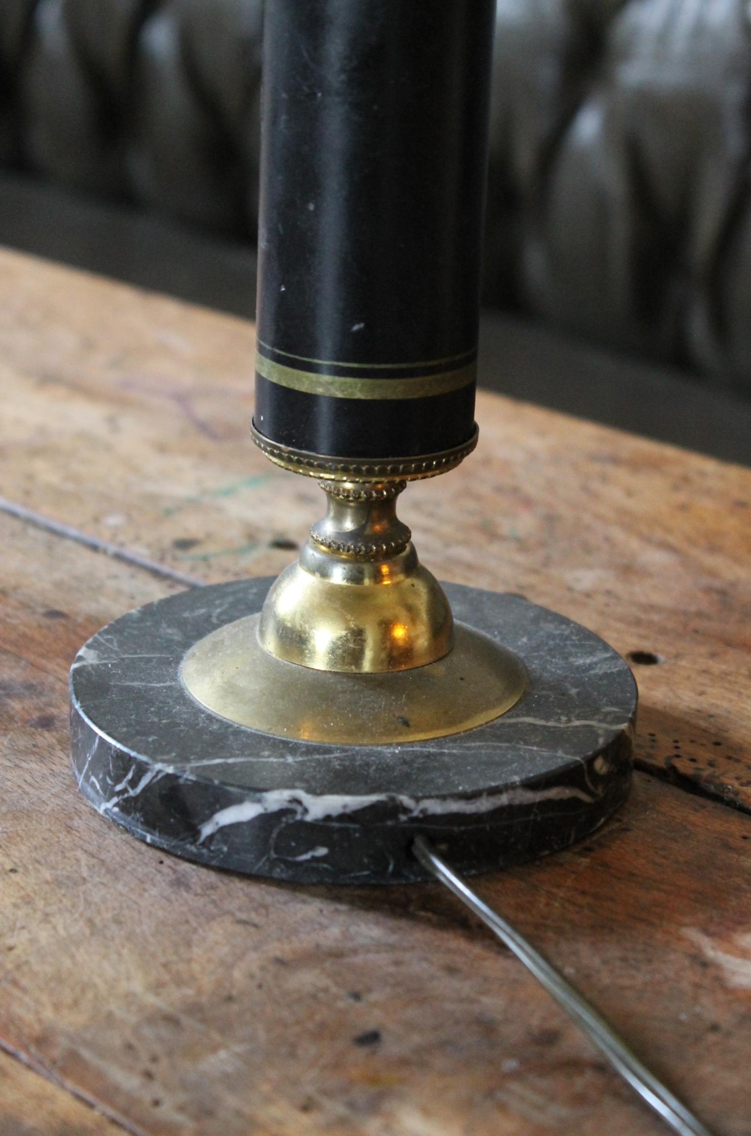 Lampe de bureau en bronze et marbre magasin pierre brost for Lampe ambiance et style