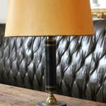 lampe de bureau style epire bronze laqué et doré marbre abat jour  (6)