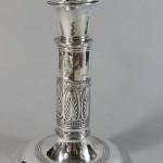 bougeoir télescopique en métal plaqué d'argent. époque Empire. hauteur 15 cm. modèle rare et en bon état (1)