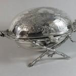 beurrier métal argenté napoleon III  (3)