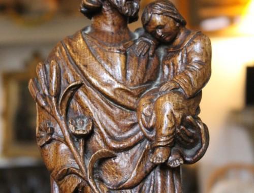 saint joseph sculpture chêne  XIXe siècle enfant jésus (2)