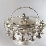 Rare œufrier dit Coquotte au bain-marie en métal doublé d'argent. Par Veyrat (1)