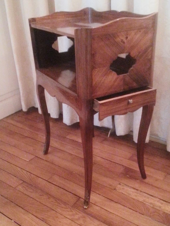 El gante petite table en cas en palissandre d poque - Petit meuble de salon ...