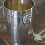 timbale coquille saint jacques régence louis XV argent massif bateme naissance  (1)