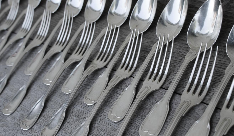 12 cuill res soupe et 12 fourchettes de table en argent mod le filet maga - Poincon menagere argent ...