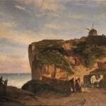 tableaux-marine-bord-de-mer-paysage-normandie-theodore-weber-huile-sur-panneau-falaise-moulin-xixe-siecle-8