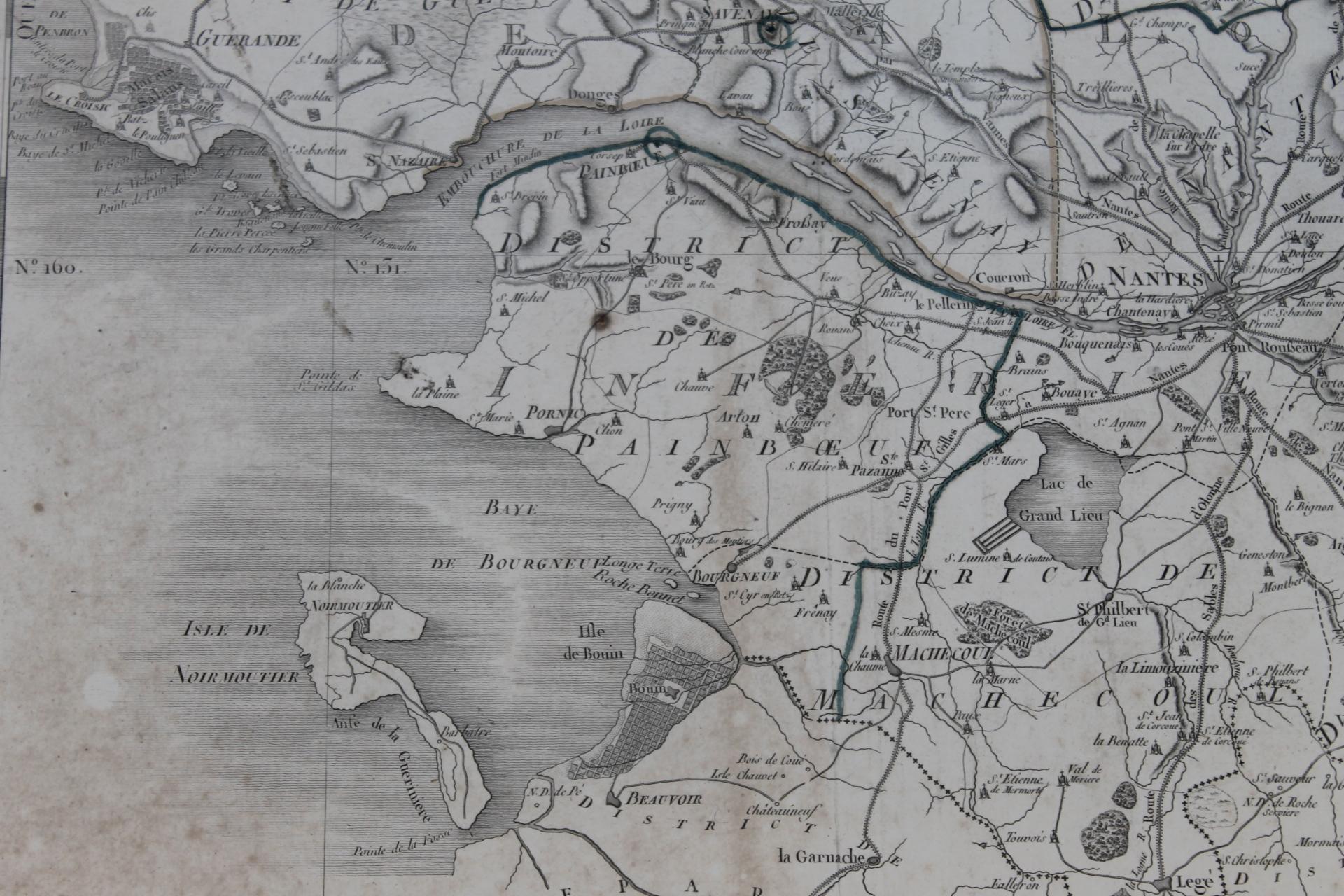 côte atlantique carte