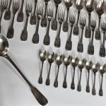 menagere couvert argent filet louche cuillères fourchettes (6)