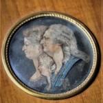 medaillon epoque restauration gravure aquarelle miniature famille royale louis XVI Louis XVII marie antoinette (1)