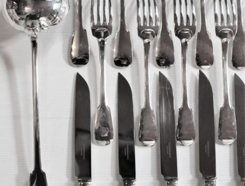 ménagère couverts fourchettes cuillères à soupe couteaux louche uniplat vieux paris cluny cardeilhac (4)