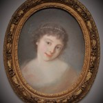 portrait ovale pastel XVIIIe siècle dessin tableau jeune fille femme (1)