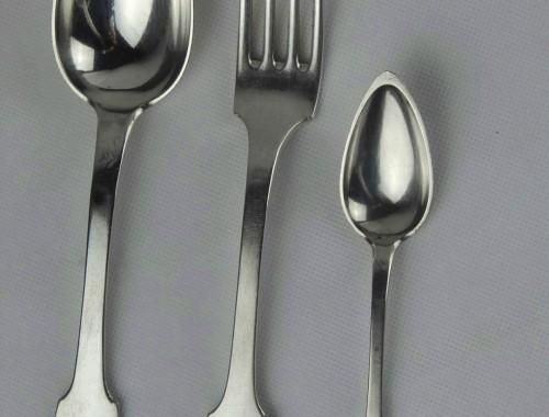 couverts ménagère modèle uniplat cluny argent massif fourchettes cuillères (2)