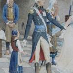 l'arrestation du chef vendéen guerre de vendée chouan aquarelle paul jazet XIXe siècle dessin03