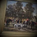 le depart pour la chasse emile Jacque venerie chasse à courre equipage huile sur toile tableau peinture(18) - Copie