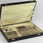 ménagère aux filet métal argenté chinon ercuis couverts louche cuillères fourchette (1)