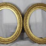 paire de cadres Louis XVI ovale portrait XIXe siècle bois doré (1)