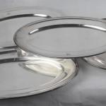série de 4 plats creux christofle metal argenté (1)