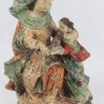 scilpture statue groupe XVIIe XVIIIe siècle Sainte Anne Education de la vierge Marie polychromie bois (1)