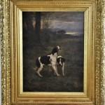 tableau huile sur panneau chiens courants meutes chasse à courre venerie von thoren (6)