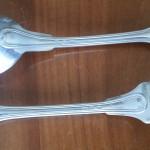 12 couverts de table fourchettes cuillers à soupe ménagère modèle filet chinon métal argenté argenterie cadeau de mariage