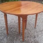 table de salle à manger à volets en merisier à allonges style louis XVI (2)