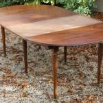 table de salle a manger a allonges a volet abbatant directoire louis XVI acajou pieds fuselé  ronde ovale  (2)