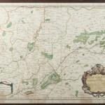 carte ancienne gravure aquarelle Blois sologne chambord eau forte XVIII siècle  cadre
