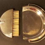 ramasse miette pelle et brosse en métal argenté art déco (1)