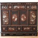 meuble a hauteur d'appui indochinois indochine tonkin incrustation de nacre bois exotique art d'asie extreme orient (2)