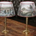 paire de lampes epoque empire restauration abat jour flambeaux bougeoirs bronze doré  (1) (FILEminimizer)
