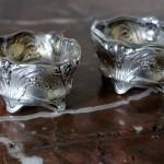 paire de salerons salieres poivriere argent massif cristal poincon minerve art nouveau 1900 jugendstyle  (3)