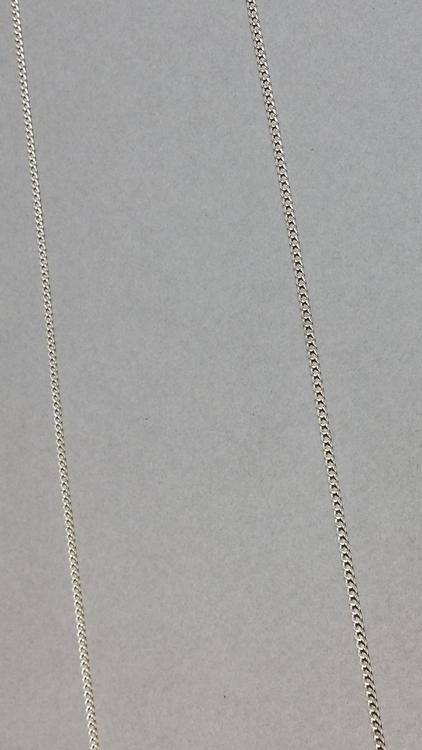 chaîne en argent. longueur 60 cm. 25€ (2)