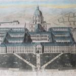 gravure estampe aquarelle les invalides XVIII eme siècle vue d'optique esplanade epoque Louis XIV (2) (FILEminimizer)